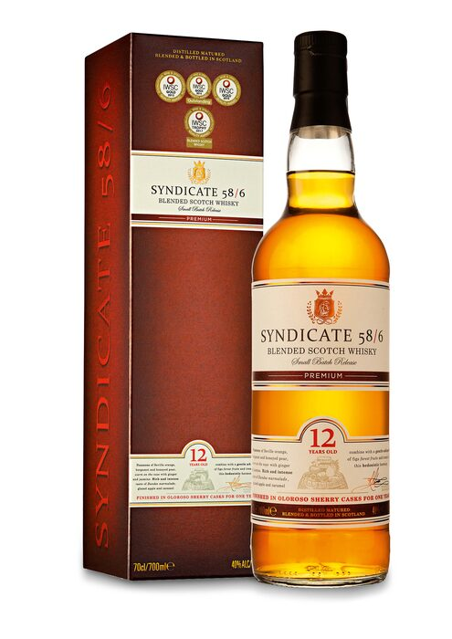 D.L.-SYNDICATE 12 y.o. SUPERIOR BLENDED SCOTCH WHISKY - c. a.