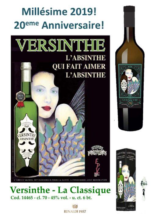 """VERSINTHE CLASSIQUE + cucchiaino """"20eme Anniversaire"""" - c. a."""